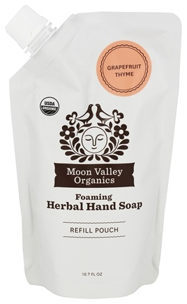 Moon Valley Organics - Foaming Herbal Hand Soap 3x Refill Pouch Grapefruit Thyme - 10.7 oz.