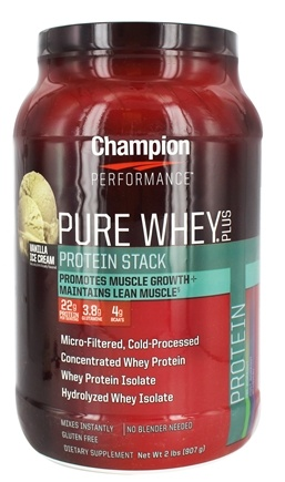 DROPPED: Champion Performance - Pure Whey Plus Protein Stack Vanilla Ice Cream - 2 lbs.