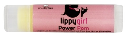 Lippy Girl - Power Pom Vegan Lip Conditioning Stick Pomegranate Colorless - 0.15 oz.