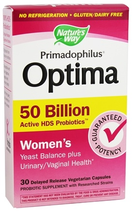 Nature's Way - Primadophilus Optima Women's 50 Billion Active HDS Probiotics - 30 Vegetarian Capsules