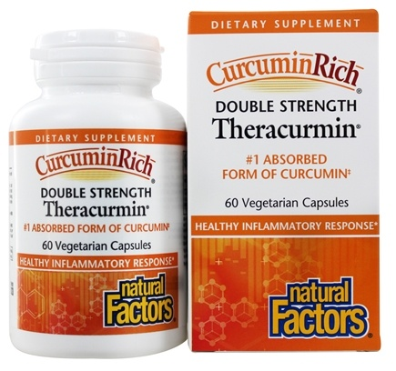 Natural Factors - Double Strength Theracurmin 600 mg. - 60 Vegetarian Capsules