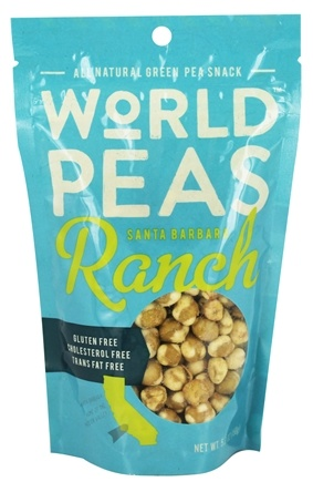 World Peas - All Natural Green Pea Snack Santa Barbara Ranch - 5.3 oz.
