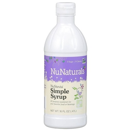 NuNaturals - NuStevia Simple Syrup - 16 oz.