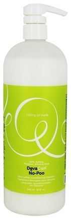 DevaCurl - No-Poo Zero Lather Conditioning Hair Cleanser - 32 oz.