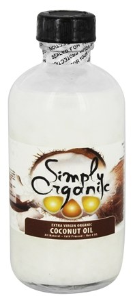 Simply Organic Oils - Extra Virgin Organic Coconut Oil - 4 oz.