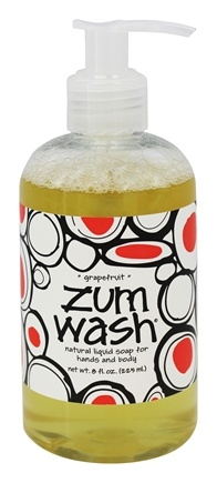 Indigo Wild - Zum Wash Natural Liquid Hand & Body Soap Grapefruit - 8 oz.