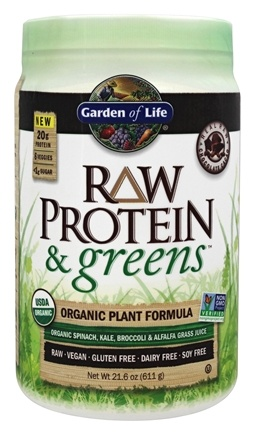 Buy Garden Of Life Raw Protein Greens Organic Plant Formula Real Raw Chocolate Cacao 21 6