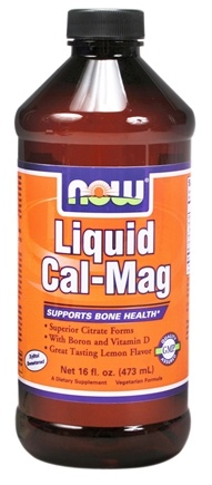 DROPPED: NOW Foods - Liquid Cal-Mag with Boron and Vitamin D Great Tasting Lemon Flavor - 16 oz.
