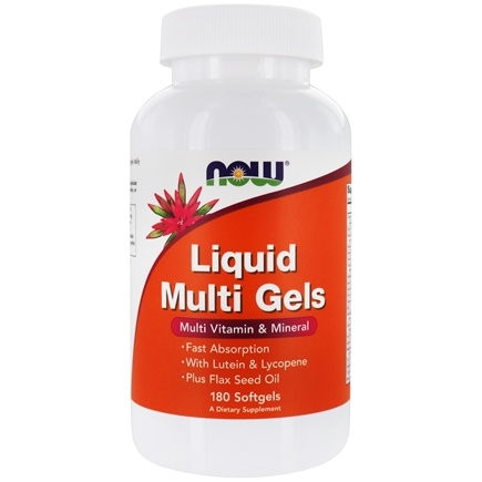 NOW Foods - Liquid Multi Gels Multivitamin & Mineral - 180 Softgels
