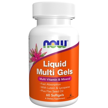 NOW Foods - Liquid Multi Gels Multivitamin & Mineral - 60 Softgels