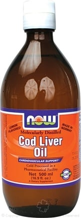 DROPPED: NOW Foods - Cod Liver Oil - Molecularly Distilled - Made in Norway Lemon Flavored (500 mL) - 16.9 oz.