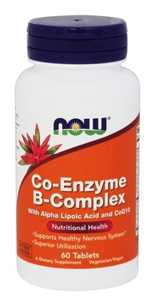 NOW Foods - Co-Enzyme B-Complex with Alpha Lipoic Acid & CoQ10 - Enteric Coated - 60 Tablets