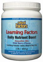 DROPPED: Natural Factors - Learning Factors Daily Nutrient Boost Smoothie Mix - 1 lb.
