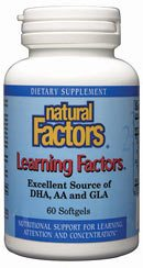 DROPPED: Natural Factors - Learning Factors GLA & DHA & AA - 60 Softgels
