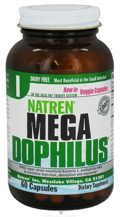 DROPPED: Natren - Megadophilus Dairy Free - 60 Capsules CLEARANCE PRICED