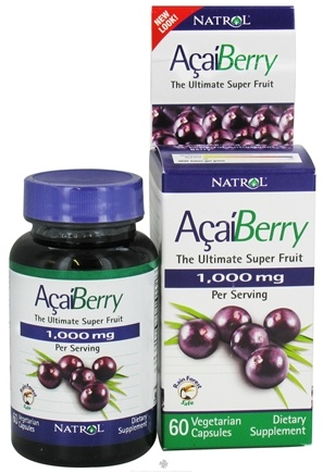DROPPED: Natrol - Acai 1000 mg. - 60 Vegetarian Capsules
