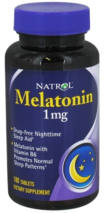 DROPPED: Natrol - Melatonin 1 mg. - 180 Tablets