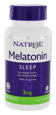 Natrol - Melatonin Time Release 3 mg. - 100 Tablets