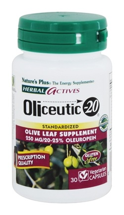 Nature's Plus - Herbal Actives Oliceutic-20 - 30 Vegetarian Capsules