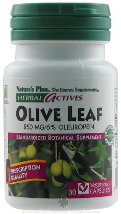 DROPPED: Nature's Plus - Herbal Actives Olive Leaf 250 mg. - 30 Vegetarian Capsules