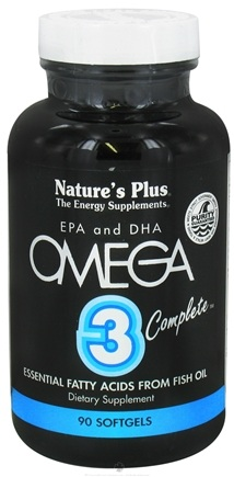 DROPPED: Nature's Plus - Omega 3 Complete EPA and DHA - 90 Softgels CLEARANCE PRICED