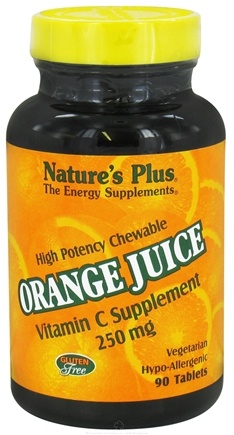 DROPPED: Nature's Plus - Orange Juice Chewable Vitamin C 250 mg. - 90 Chewable Tablets