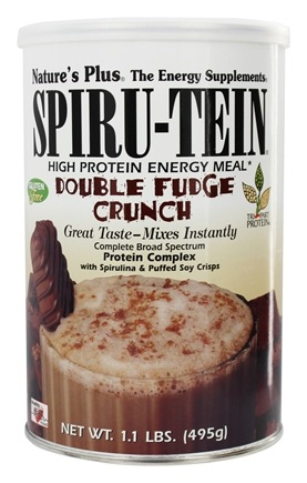 Nature's Plus - Spiru-Tein High Protein Energy Meal Double Fudge Crunch - 1.1 lbs.