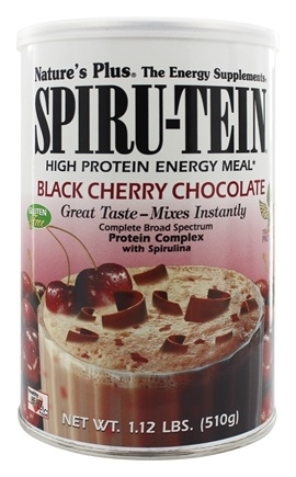 Nature's Plus - Spiru-Tein High Protein Energy Meal Black Cherry Chocolate - 1.12 lbs.