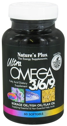 DROPPED: Nature's Plus - Ultra Omega 3-6-9 - 60 Softgels