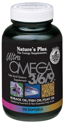 DROPPED: Nature's Plus - Ultra Omega 3-6-9 Softgel 1200 mg. - 90 Softgels CLEARANCE PRICED