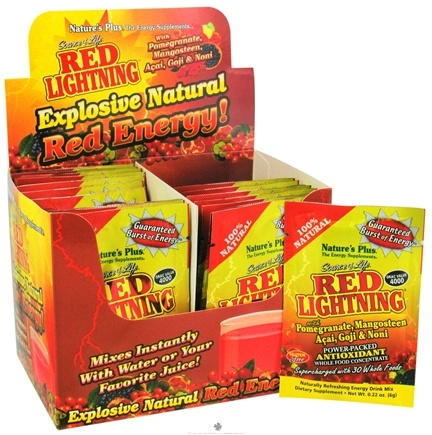 DROPPED: Nature's Plus - Source of Life Red Lightning Antioxidant Energy Drink - 1 Packet