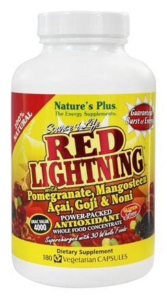 DROPPED: Nature's Plus - Source of Life Red Lightning Power Packed Antioxidant - 180 Vegetarian Capsules