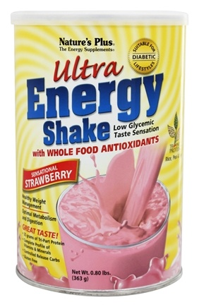 DROPPED: Nature's Plus - Ultra Energy Shake Sensational Strawberry Flavor - 0.8 lbs.