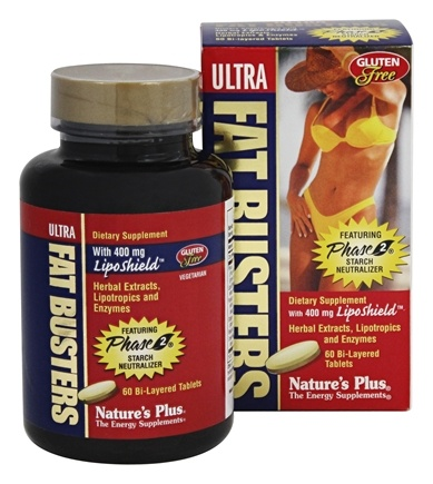Nature's Plus - Ultra Fat Busters Featuring Phase 2 Starch Neutralizer with 400 mg. LipoShield - 60 Tablets