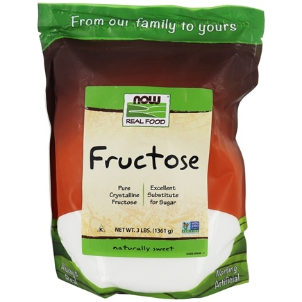 NOW Foods - Fructose Fruit Sugar - 3 lbs.