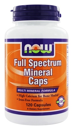 DROPPED: NOW Foods - Full Spectrum Minerals Multi-Mineral Formula - 100 Tablets CLEARANCE PRICED