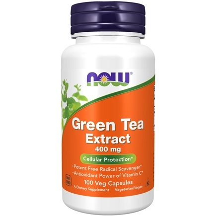 NOW Foods - Green Tea Extract 60% 400 mg. - 100 Capsules