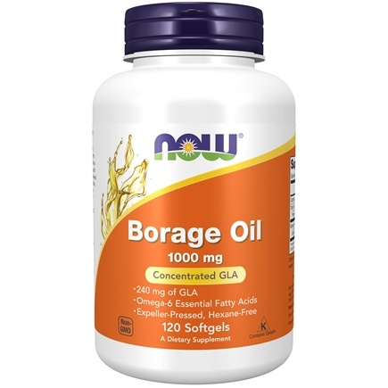 NOW Foods - Borage Oil (Highest GLA Concentration) 1000 mg. - 120 Softgels