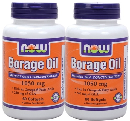 DROPPED: NOW Foods - Borage Oil Twin Pack Special 240 mg. - 120 Softgels