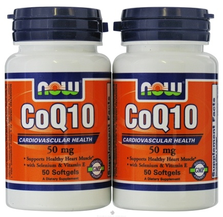 DROPPED: NOW Foods - CoEnzyme Q-10 (50+50) Twin Pack Special 50 mg. - 100 Softgels