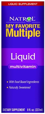 DROPPED: Natrol - My Favorite Multiple Liquid Multivitamin - 8 oz. CLEARANCE PRICED