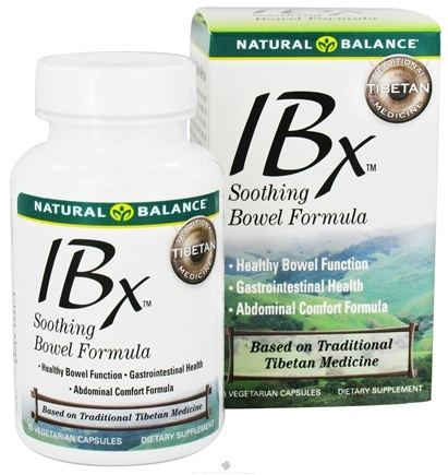 DROPPED: Natural Balance - IBX Soothing Bowel Formula - 60 Vegetarian Capsules CLEARANCE PRICED