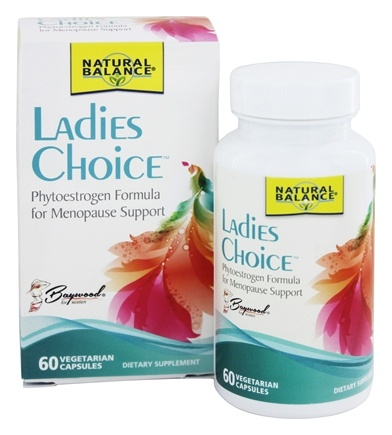 Natural Balance - Ladies Choice Phytoestrogen Formula for Menopause Support - 72 Capsules