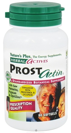 Nature's Plus - Herbal Actives ProstActin - 60 Softgels
