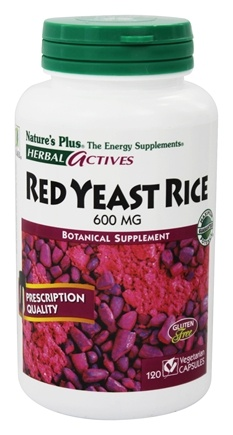 Nature's Plus - Herbal Actives Red Yeast Rice 600 mg. - 120 Vegetarian Capsules