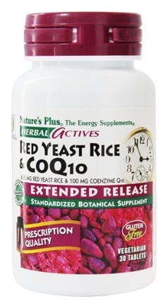 Nature's Plus - Herbal Actives Extended Release Red Yeast Rice 600 Mg & CoQ10 100 Mg - 30 Vegetarian Tablets