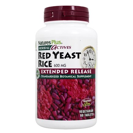 Nature's Plus - Herbal Actives Red Yeast Rice Extended Release 600 mg. - 60 Vegetarian Tablets
