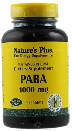 DROPPED: Nature's Plus - Paba S/R 1000 mg. - 60 Tablets