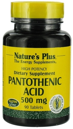 DROPPED: Nature's Plus - Pantothenic Acid CLEARANCE PRICED 500 mg. - 90 Tablets