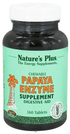 Nature's Plus - Papaya Enzyme - 360 Chewable Tablets
